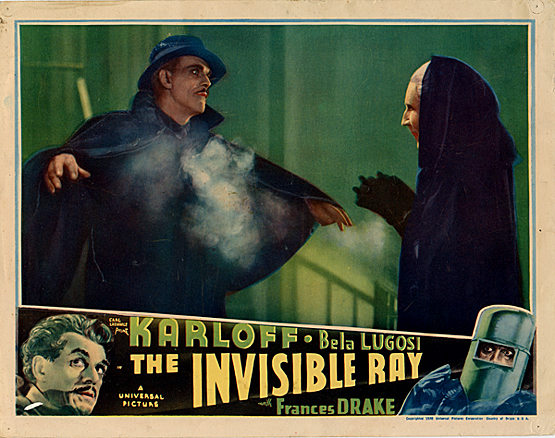 Invisible Ray-Lobby Card
