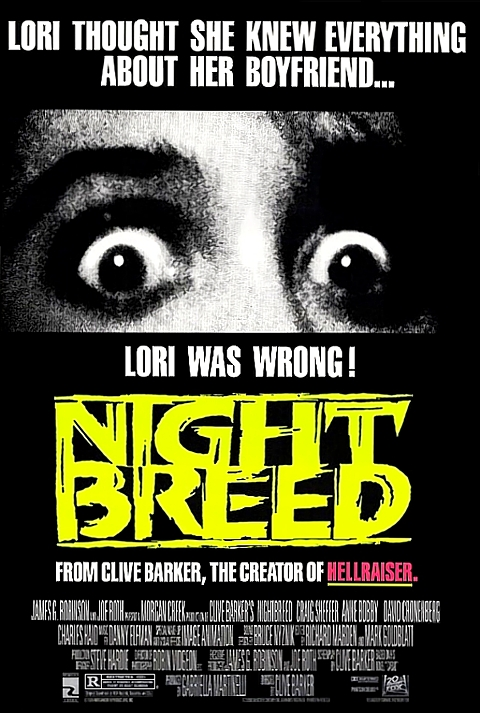 Incredibly inappropriate poster for Nightbreed