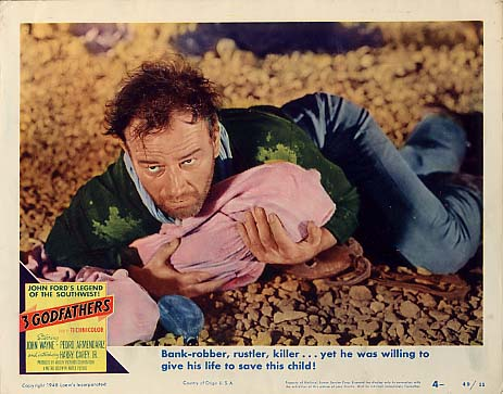 3 Godfathers Lobby Card