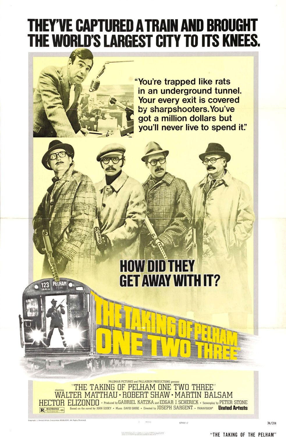 The taking of pelham one two three 1974 the league of for The pelham