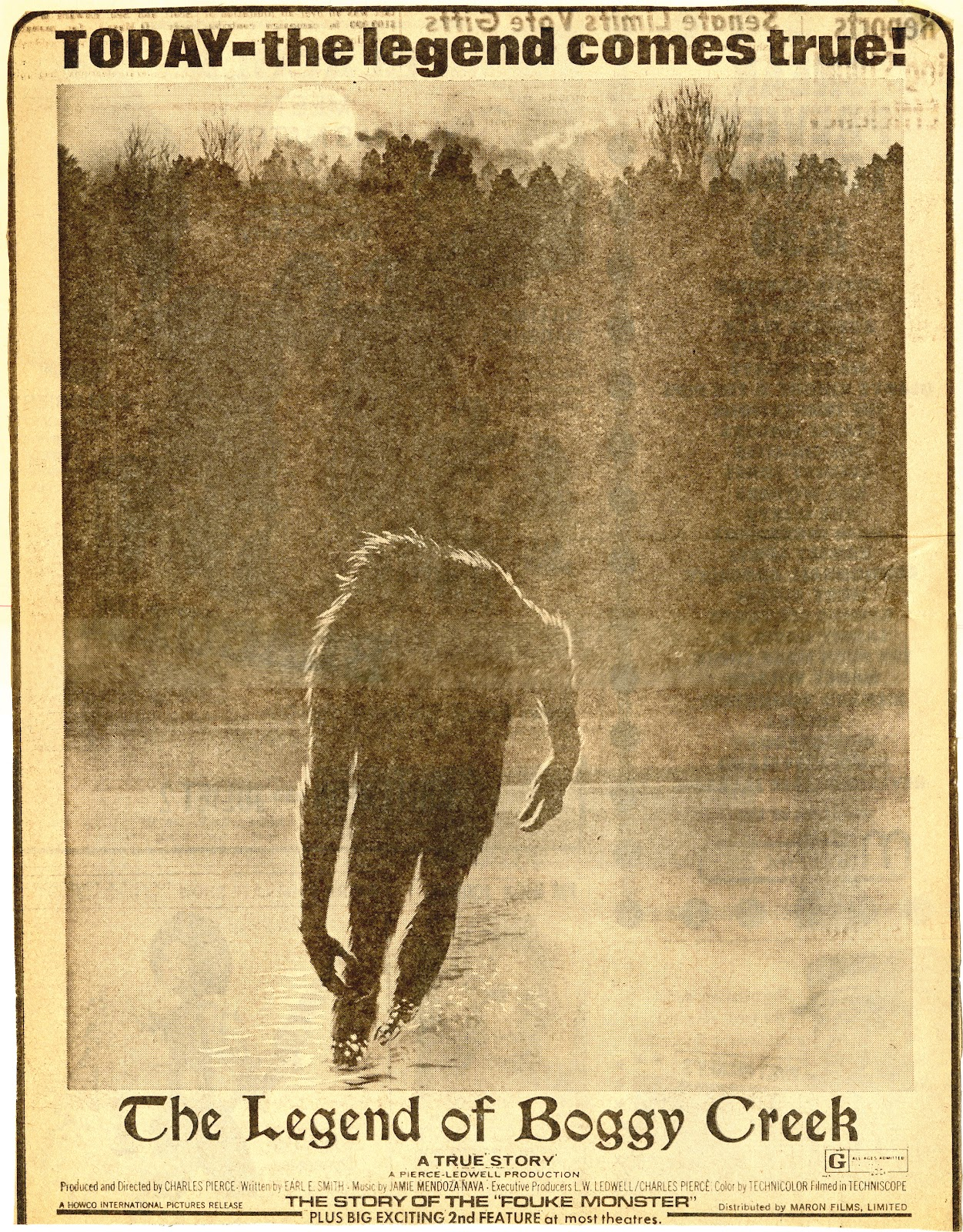 May 1st: The Legend of Boggy Creek (1972) « The League of ... The Legend Is True Boggy Creek