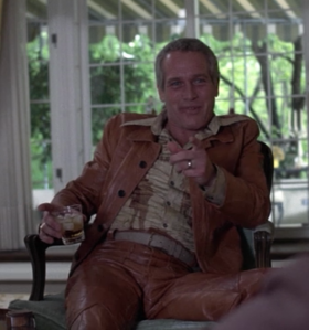 Newman in questionable leather
